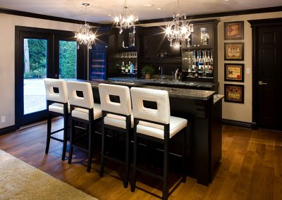 Bar-stools-bring-brightness-to-the-basement-bar